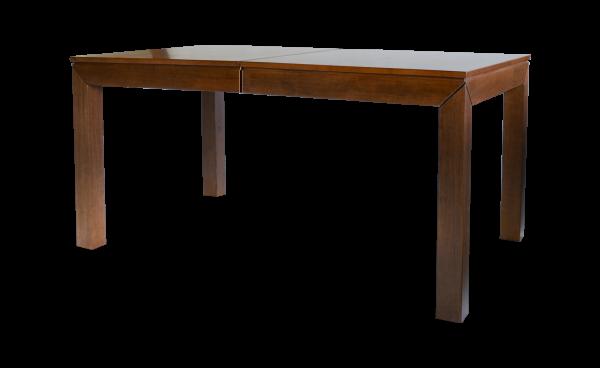 Rozkládací masivní stůl Bruno ve složeném stavu v ořechovém provedení